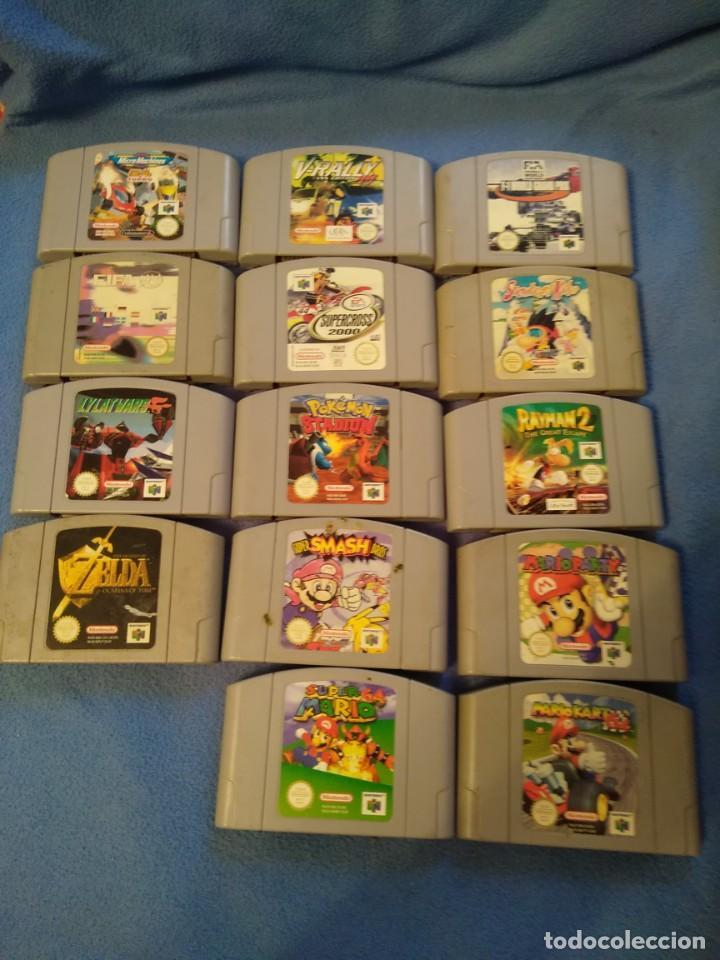 LOTE 14 CARTUCHOS JUEGOS NINTENDO 64 (Juguetes - Videojuegos y Consolas - Nintendo - Nintendo 64)