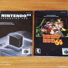 Videojuegos y Consolas: MANUAL DONKEY KONG 64 NINTENDO 64. Lote 218539825