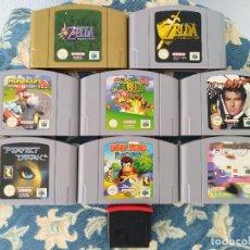 Videojuegos y Consolas: LOTE 8 JUEGOS N64 (ZELDA, MARIO, ETC.) + EXPANSION PACK. PAL. NINTENDO. ESPAÑA. Lote 218571465