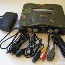 Videojuegos y Consolas: CONSOLA NINTENDO 64 TUNEADA CON TUROK 2 PAL AÑO 1996 FUNCIONANDO COMPLETA. Lote 219021195