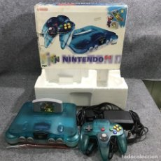 Videojuegos y Consolas: CONSOLA NINTENDO 64 CLEAR BLUE CON CAJA+SUPER MARIO 64. Lote 219189076