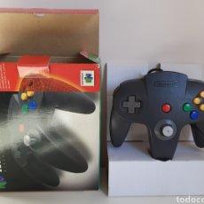 Videogiochi e Consoli: MANDO CONTROLLER NEGRO COMPLETO NINTENDO 64. Lote 221375657