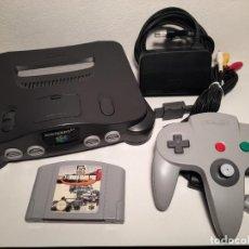 Videojuegos y Consolas: NINTENDO 64 + CABLEADO + MANDO + JUEGO N64. Lote 221755323