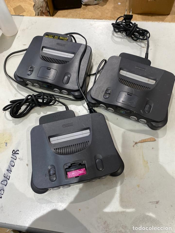 LOTE DE 3 CONSOLAS NINTENDO 64 . VER LAS FOTOS (Juguetes - Videojuegos y Consolas - Nintendo - Nintendo 64)