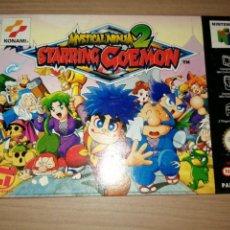 Videojuegos y Consolas: MYSTICAL NINJA 2 STARRING GOEMON NINTENDO 64 PAL VERSION COMO NUEVO. Lote 223648503