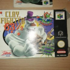Videojuegos y Consolas: CLAY FIGHTER 63 1/3 NINTENDO 64 PAL VERSION COMPLETO. Lote 223674312