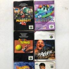 Videogiochi e Consoli: LOTE MANUALES NINTENDO 64. Lote 226290540