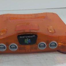 Jeux Vidéo et Consoles: ANTIGUA CONSOLA NINTENDO 64 EDICIÓN TRANPARENTE NARANJA. Lote 226359015