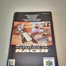 Videojuegos y Consolas: STAR WARS RACER EPISODIO I NINTENDO 64 MANUAL DE INSTRUCCIONES JUEGO CARTUCHO CONSOLA. Lote 227611921