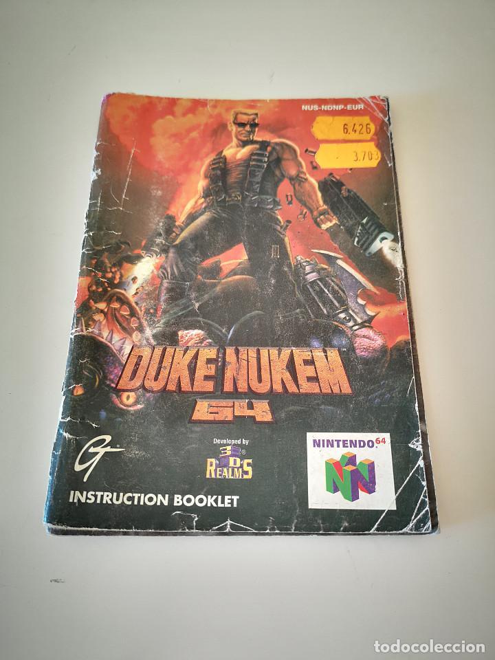 DUKE NUKEM NINTENDO 64 MANUAL DE INSTRUCCIONES JUEGO CARTUCHO CONSOLA (Juguetes - Videojuegos y Consolas - Nintendo - Nintendo 64)