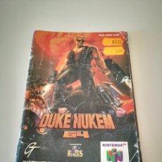 Videojuegos y Consolas: DUKE NUKEM NINTENDO 64 MANUAL DE INSTRUCCIONES JUEGO CARTUCHO CONSOLA. Lote 227612475