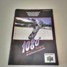 Videojuegos y Consolas: 1080º SNOWBOARDING 1080 NINTENDO 64 MANUAL DE INSTRUCCIONES JUEGO CARTUCHO CONSOLA. Lote 227612780