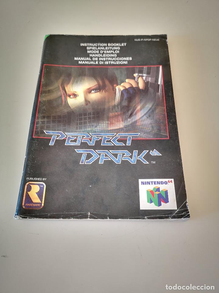 PERFECT DARK NINTENDO 64 MANUAL DE INSTRUCCIONES JUEGO CARTUCHO CONSOLA (Juguetes - Videojuegos y Consolas - Nintendo - Nintendo 64)