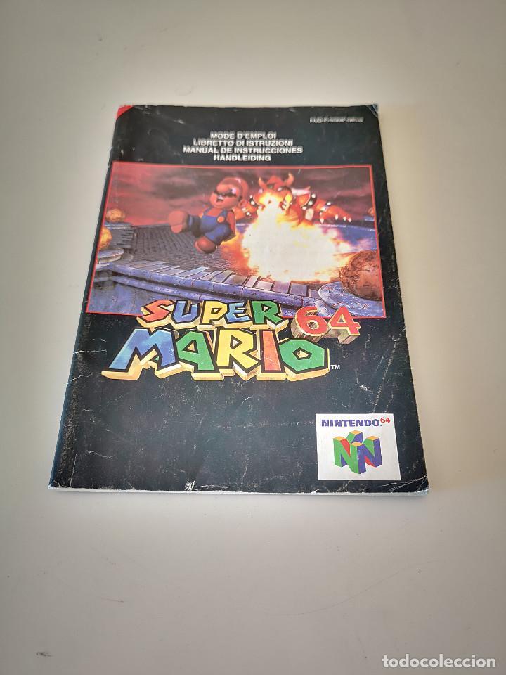 SUPER MARIO 64 NINTENDO 64 MANUAL DE INSTRUCCIONES JUEGO CARTUCHO CONSOLA (Juguetes - Videojuegos y Consolas - Nintendo - Nintendo 64)