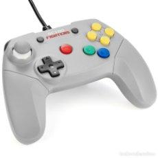 Videojuegos y Consolas: MANDO NINTENDO 64 RETRO FIGHTERS BRAWLER 64 GRIS N64 NUEVO. Lote 228853155
