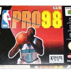 Videojuegos y Consolas: JUEGO NINTENDO 64 NBA PRO 98 N64 COMPLETO NUEVO. Lote 265173394