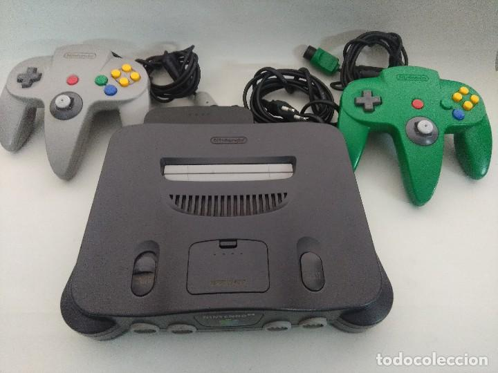 Videojuegos y Consolas: CONSOLA NINTENDO 64 CON DOS MANDOS. - Foto 5 - 234919755