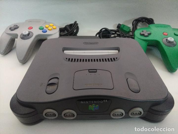 Videojuegos y Consolas: CONSOLA NINTENDO 64 CON DOS MANDOS. - Foto 6 - 234919755