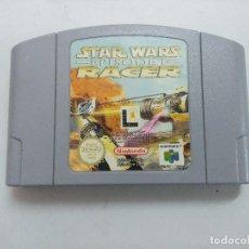 Videojuegos y Consolas: STAR WARS RACER-EPISODE I/CARTUCHO JUEGO NINTENDO 64 .. Lote 234922595