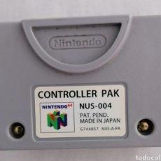Videojuegos y Consolas: CONTROLLER PAK ORIGINAL NINTENDO 64 N64 NUS-004. Lote 235617950