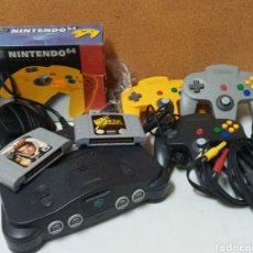 Videojuegos y Consolas: CONSOLA NINTENDO 64 CON JUEGOS Y ACCESORIOS. Lote 235639395