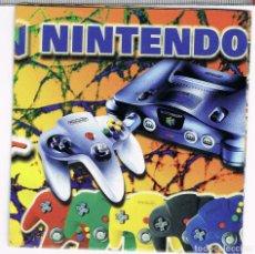 Videojuegos y Consolas: FOLLETO DESPLEGABLE PUBLICIDAD NINTENDO 64 AÑO 1997. Lote 243658525