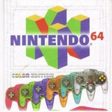 Videojuegos y Consolas: FOLLETO DESPLEGABLE PUBLICIDAD NINTENDO 64 AÑO 1999. Lote 243658715