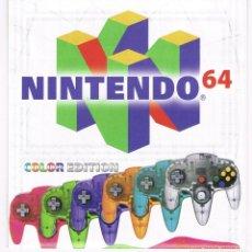 Videojuegos y Consolas: FOLLETO DESPLEGABLE PUBLICIDAD NINTENDO 64 AÑO 2000. Lote 243658770