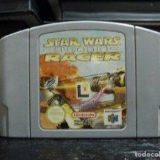 Videojuegos y Consolas: JUEGO DE NINTENDO 64 STAR WARS EPISODE I RACER. Lote 245969965