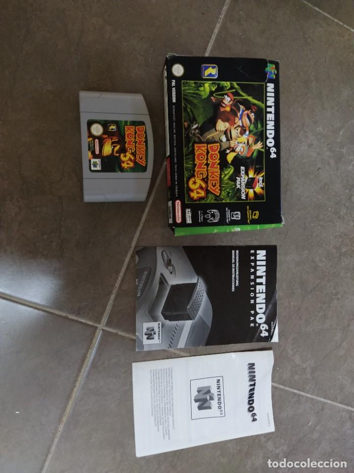 DONKEY KONG N64 NINTENDO 64 + BOX CAJA , ORIGINAL 100% PAL-EUROPE (Juguetes - Videojuegos y Consolas - Nintendo - Nintendo 64)