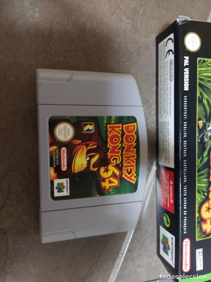 Videojuegos y Consolas: DONKEY KONG N64 NINTENDO 64 + BOX CAJA , ORIGINAL 100% PAL-EUROPE - Foto 2 - 246291985