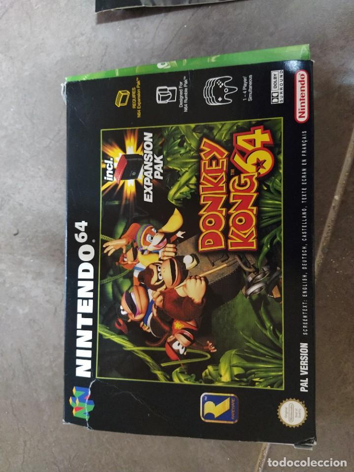 Videojuegos y Consolas: DONKEY KONG N64 NINTENDO 64 + BOX CAJA , ORIGINAL 100% PAL-EUROPE - Foto 6 - 246291985
