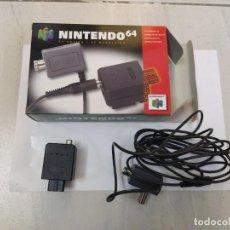 Videojuegos y Consolas: MODULADOR RF PAK N64 NINTENDO 64 COMPLETO ORIGINAL 100%. Lote 247703535