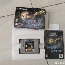 Videojogos e Consolas: PERFECT DARK N64 NINTENDO 64 PAL-EUROPE COMPLETO ORIGINAL 100%. Lote 247703955