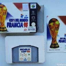 Videojuegos y Consolas: COPA DEL MUNDO FRANCIA 98 COMPLETO NINTENDO 64. Lote 249306310