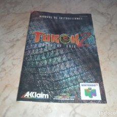 Videojuegos y Consolas: NINTENDO 64 MANUAL DE INSTRUCCIONES TUROK 2. Lote 252691480