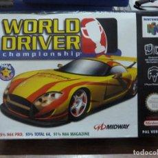 Videojuegos y Consolas: WORLD DRIVER CHAMPIONSHIP PARA NINTENDO 64. Lote 258057055