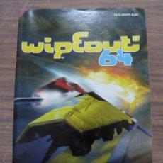 Videojuegos y Consolas: MANUAL DEL JUEGO WIPEOUT 64 PARA NINTENDO 64. Lote 261647915