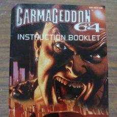 Videojuegos y Consolas: MANUAL DEL JUEGO CARMAGEDDON 64 PARA NINTENDO 64. Lote 261648135