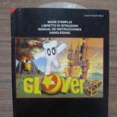 Videojuegos y Consolas: MANUAL DEL JUEGO GLOVER PARA NINTENDO 64. Lote 261648235