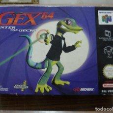 Videojuegos y Consolas: GEX 64 ENTER THE GECKO PARA NINTENDO 64. Lote 261968145