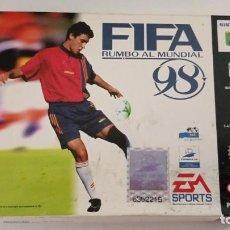 Videogiochi e Consoli: FIFA RUMBO AL MUNDIAL 98 - NINTENDO 64 - CAJA E INSTRUCIONES. Lote 267112534