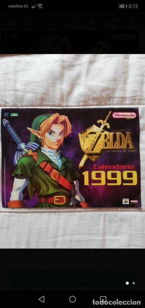 CALENDARIO ZELDA 1999 NUEVO, ZELDA OCARINA OF TIME ZOOT (Juguetes - Videojuegos y Consolas - Nintendo - Nintendo 64)