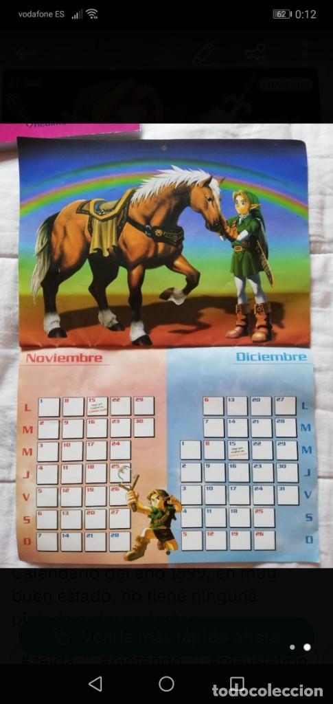 Videojuegos y Consolas: CALENDARIO ZELDA 1999 NUEVO, ZELDA OCARINA OF TIME ZOOT - Foto 2 - 268471314