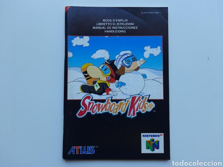 MANUAL SNOWBOARD KIDS NINTENDO 64 (Juguetes - Videojuegos y Consolas - Nintendo - Nintendo 64)