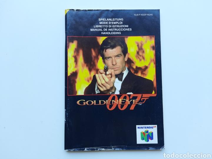 MANUAL GOLDENEYE 007 NINTENDO 64 (Juguetes - Videojuegos y Consolas - Nintendo - Nintendo 64)