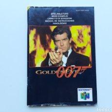 Videojuegos y Consolas: MANUAL GOLDENEYE 007 NINTENDO 64. Lote 268944469