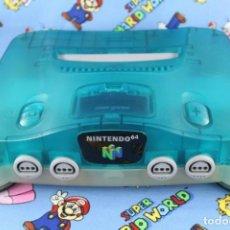 Videojuegos y Consolas: CONSOLA NINTENDO 64 N64 CLEAR BLUE SOLO CONSOLA PAL BUEN ESTADO FUNCIONANDO. Lote 270177598