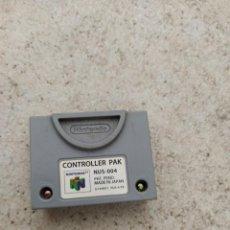 Videojuegos y Consolas: CONTROLLER PAK NINTENDO 64 N64, PROBADO Y FUNCIONANDO. Lote 270260438