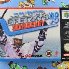 Videojuegos y Consolas: NINTENDO 64 N64 WAYNE GRETZKY'S 3D HOCKEY '98 COMPLETO PAL ESPAÑA. Lote 276026573